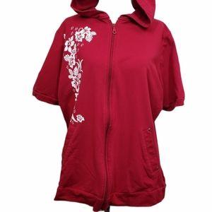 Penningtons Short Sleeve Hoodie Floral